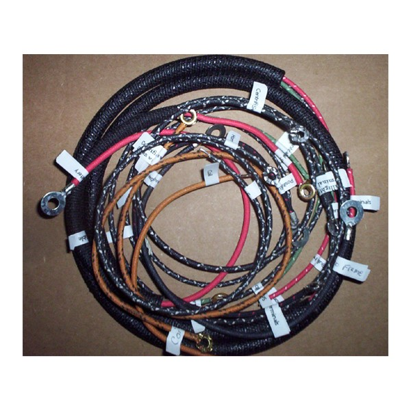 wire harness prints nos launcher 8 pin wire harness harley j & f wire harness 1920 to 1928 cotton braided wire