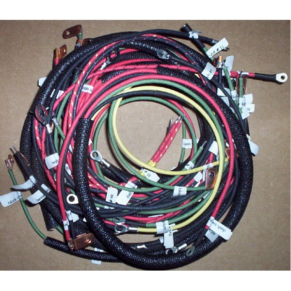 1948 el panhead springer front end wiring harness Model A Wiring Harness
