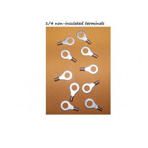 Ring Terminals number 1/4, Ten pieces