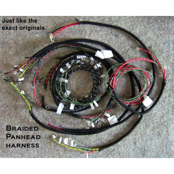 1948 harley el panhead cotton braided springer front end wiring rh cottonbraidedwire com Wiring Harness Diagram Wiring Harness Terminals and Connectors