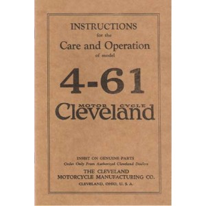 Cleveland 4-61 instructions for care and operation