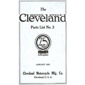 1920 Cleveland parts list No.3