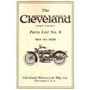 1928 Cleveland Motorcycle Parts List No.8