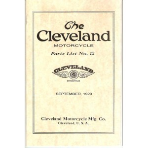 1929 Cleveland motorcycle parts list No.12, 4-45 and 4-61 models