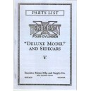 Henderson Deluxe Models and Sidecars parts list, reproduction