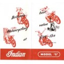 Indian brockhouse Model S 250cc mailer flier reproduction