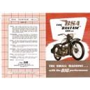 D1 BSA Bantam mailer flier