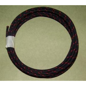 16 gauge Black with Red Tracer cotton braide wire