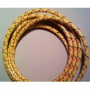 10 feet of 7mm Yellow w red & blk tracers spark wire