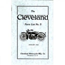1922 Cleveland Parts List No.5