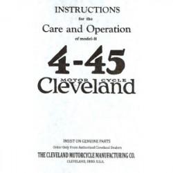 Cleveland 4-45 Instructions...
