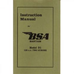 BSA D-1 Instructions Manual...