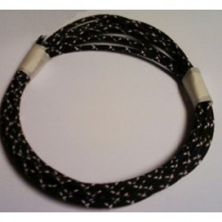 18 gauge Black with White...