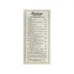 1925 Indian Price List.