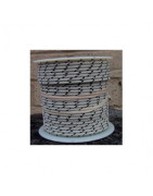 100 foot wire spools.